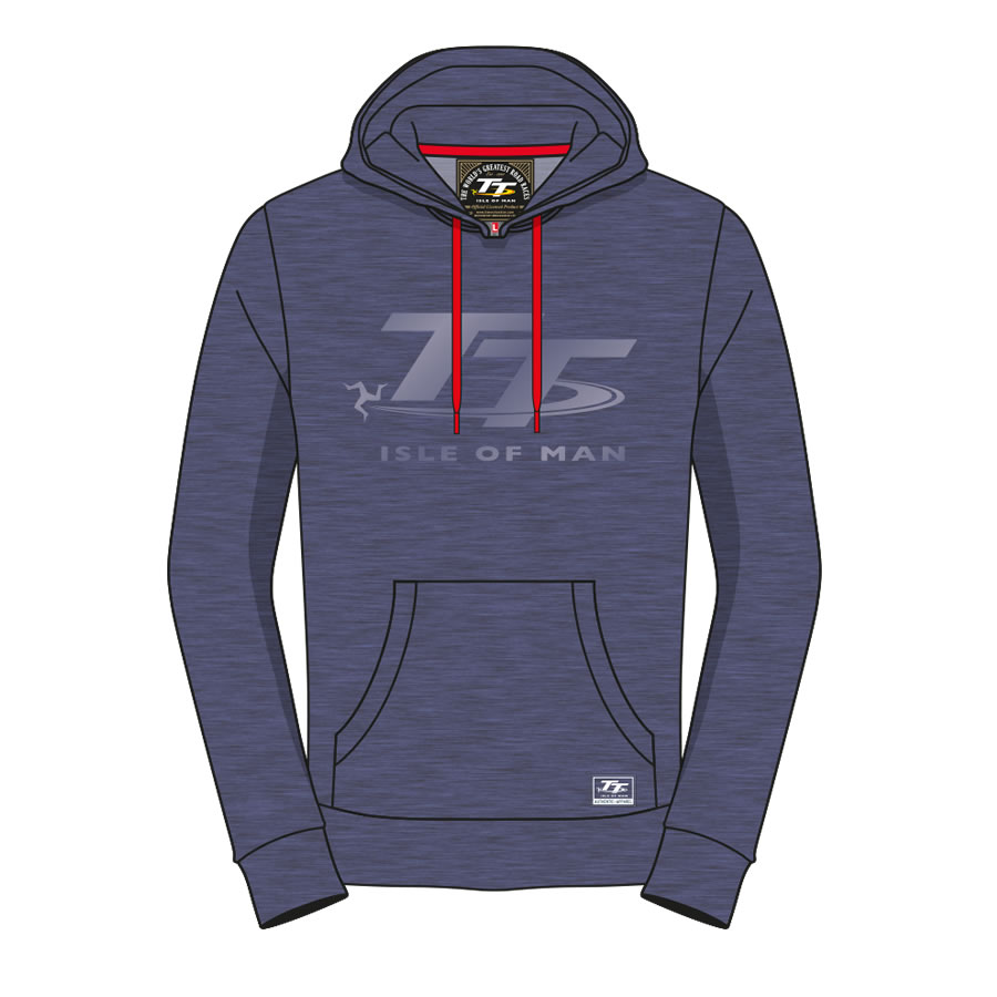 17AH3 - Hoodie Blue with Light Blue TT