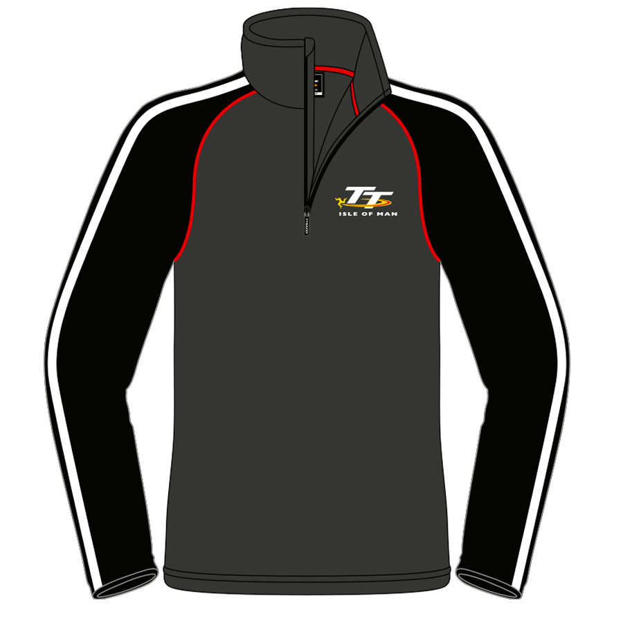 17AQZF - Grey and Black 1/4 Zip Fleece