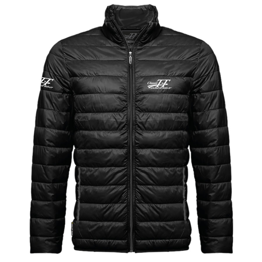 17CTT-AJ4-1 - Isle of Man Classic TT Black Ribbed Jacket