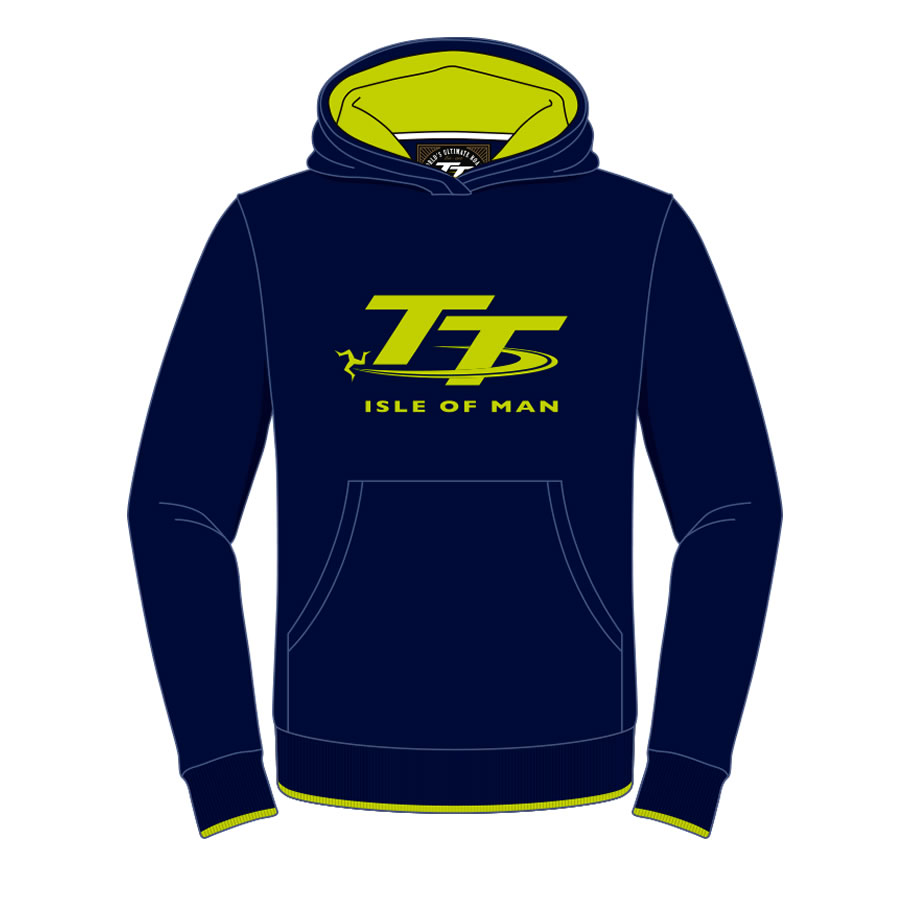 18ZKH1 - Kids Navy and Green Hoodie