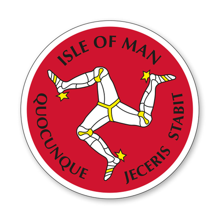 19ST5 - Isle of Man 3 Legs Sticker