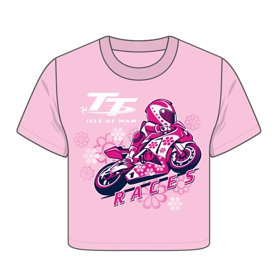 6687ab260 Official Isle of Man TT Baby Pink T-Shirt