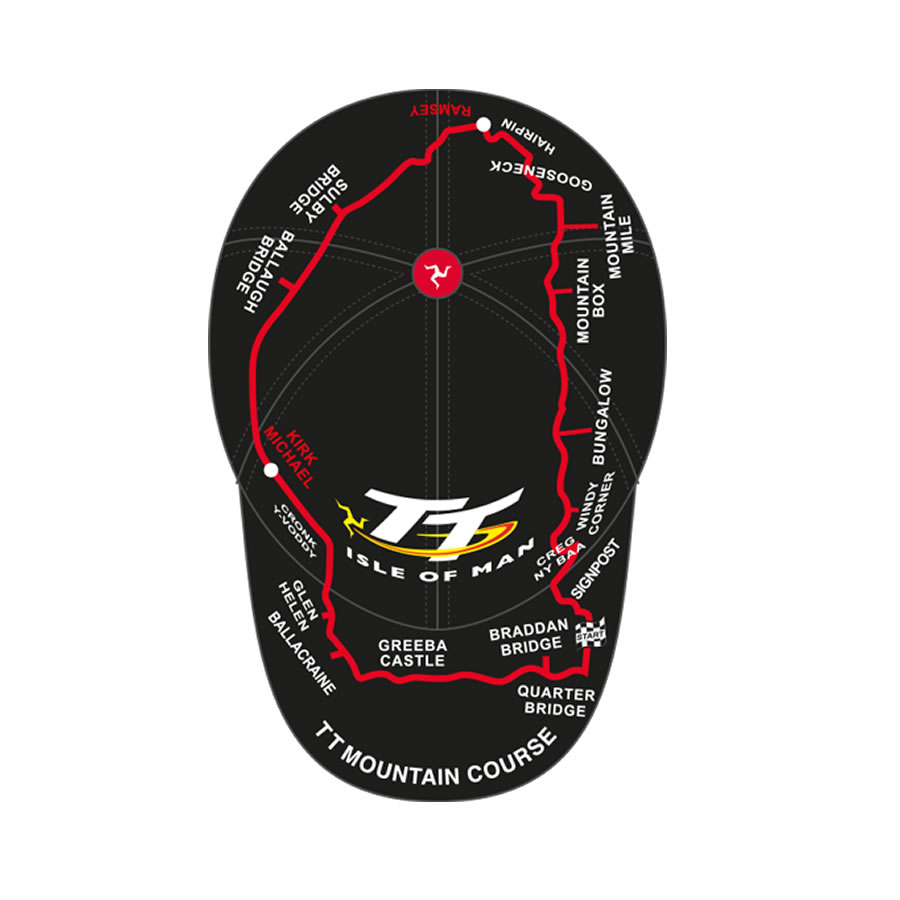 f93dc586436b0 Official Isle of Man TT Course Cap featuring many of the World ...