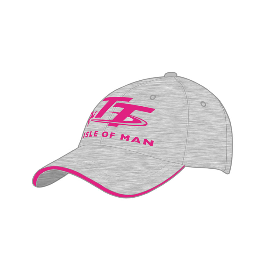 19ZKBC4 - Kids Grey and Pink Cap