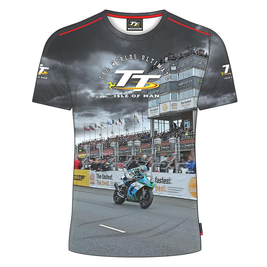 19AVTS5 Official 2019 Isle of Man TT Races Vintage T/'Shirt