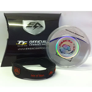 Energy Armor TT Wrist Band Black and Red