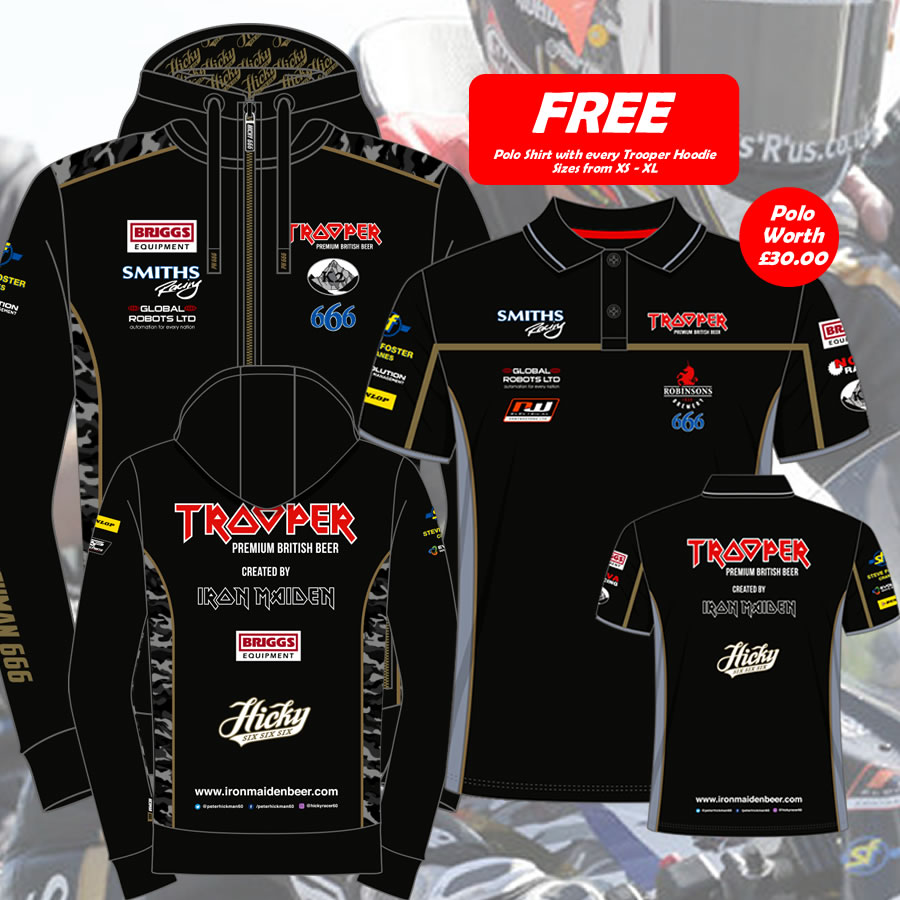 20PHT-AH1 - Peter Hickman Trooper Hoodie and Polo Shirt (Sizes XS- XL)